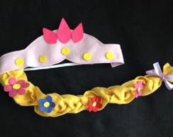 Coroa com Tran�a Rapunzel e  Enrolados