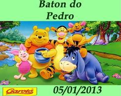 R�tulo para Baton Turma Ursinho Pooh