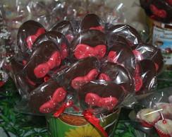 Pirulito de chocolate festa minnie