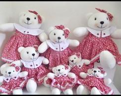 Ursas com vestido vermelho