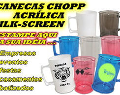 CANECA ACR�LICA DE CHOPP SILK SCREEN