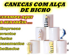 CANECAS DE PORCELANA COM AL�A DE BICHO