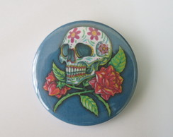 Botton Skull Flower bt787