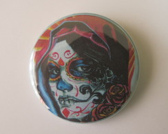 Botton Skull Girl bt790