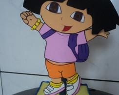 enfeite de mesa da Dora Aventureira