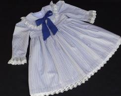 Vestido de Tricoline Listrado