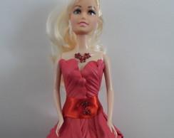Boneca com vestido de e.v.a.