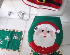 "Kit Banheiro ""Papai Noel"" (verde)"