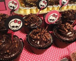 Toppers para cupcakes  - Monster High