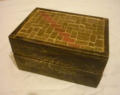 Caixa de Bijuteria em Mosaico e P�tina