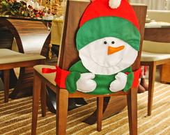 Capa De Cadeira - Boneco de neve