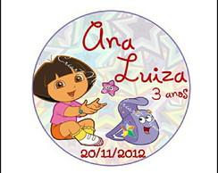 Arte para Latinha Dora Aventureira