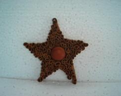 estrela canela c/ olho de boi pequena