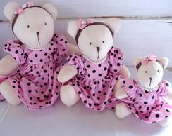 Trio de Ursas para Decora��o Infantil