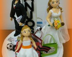 Topo de bolo - Casamento