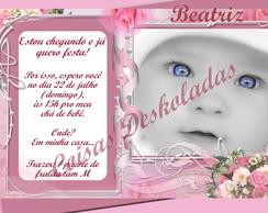 Convites Ch� de beb� Diversos - Meninas