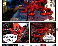 HQ Homem Aranha Convite Personalizado