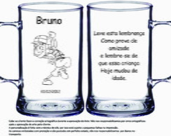 Caneca 400 Ml Acr�l. Chaves Anivers�rio