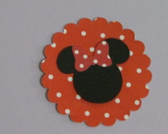Recorte Cabe�a Minnie Ou Mickey + Escalo