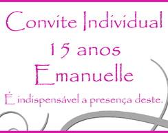 Convite Individual 15 anos