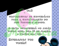 Convite Mickey ou Minnie