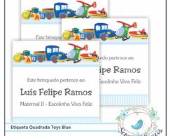 18 Etiquetas Toys Baby Blue
