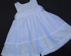 Vestido Branco de Voil