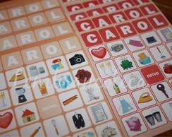 Bingo Personalizado Noiva - Carol