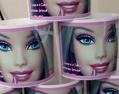 Balde Pipoca Personalizado Barbie