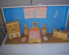 Quadro vitrine em miniatura casal