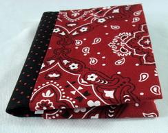 Porta Cart�o De Visitas Bandana Vermelha