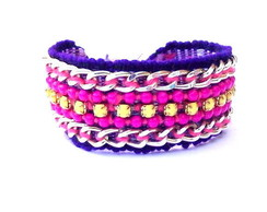 Friendship Bracelet Yellow&Pink