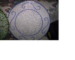 prato girat�rio em mosaico
