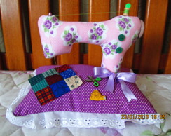 Maquininha de costura em tecido