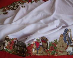 toalha de mesa decoupagem pres�pio natal