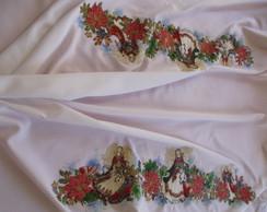 toalha de mesa decoupagem croch�