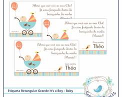 20 Etiquetas Retangulares Gr I'ts a boy