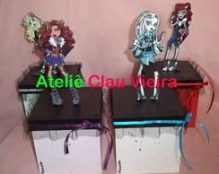 CAIXAS COM TULE MONSTER HIGH