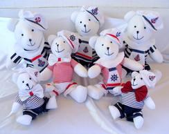 Kit com 7 ursos Marinheiros