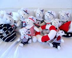 Kit Decora��o de 9 Ursos Marinheiros + 3