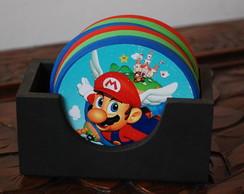 Descanso de Copo Redondo Super Mario