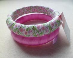 Bracelete Tecido Rosinha 4