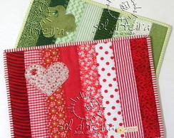 Descanso de x�caras em patchwork