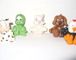 Bichinhos  mini variados em biscuit