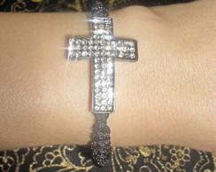 Bracelete G�tico Macram� Croix