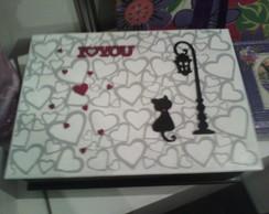caixa gato i love you
