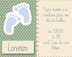 Convite ch� de fraldas/beb�