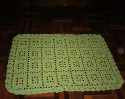 Tapete em croch� verde