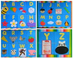 Alfabeto decorado em eva