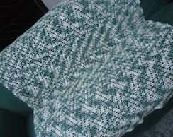 Manta de Croch� - Mescla Verde